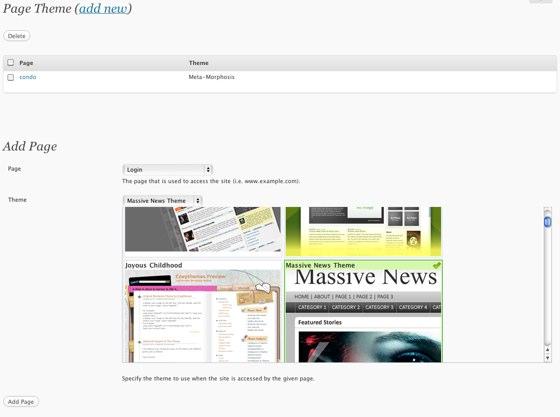 Page theme para Wordpress cambia el tema automáticamente