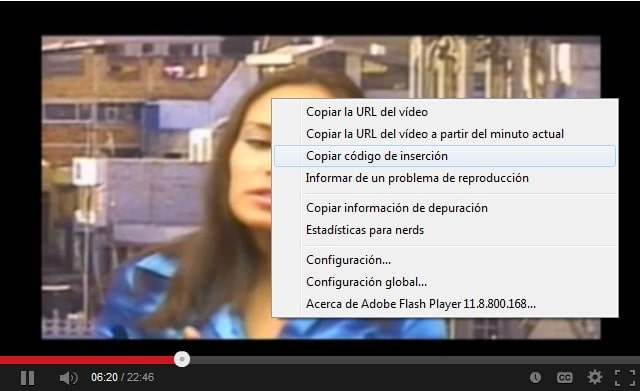 Insertar video de youtube en WordPress 02