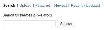 buscar o subir una plantilla de WordPress