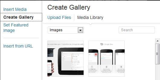 galería de imágenes en WordPress