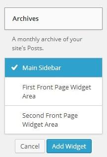 Widgets en WordPress 3.8