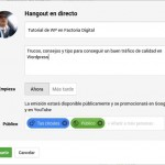 Como agregar una conversación «Hangouts en Directo» en WordPress
