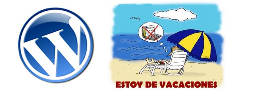 de vacaciones con WordPress