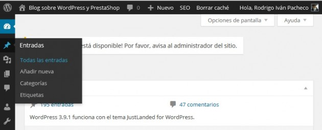 guardar en borradores de WordPress