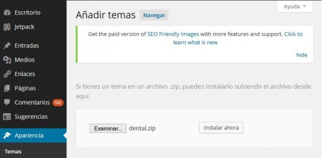 instalar Tema en WordPress 03