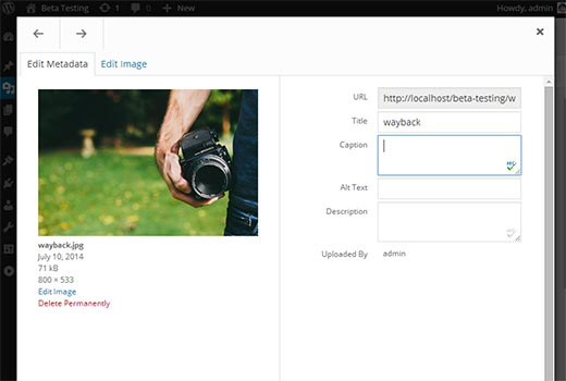 Wordpress 4.0 version beta 04