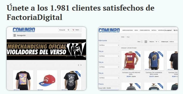 Tiendas Online con Prestashop de Factoria Digital