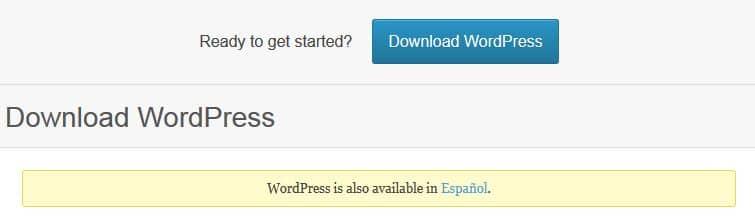Descargar idiomas en WordPress 4.0