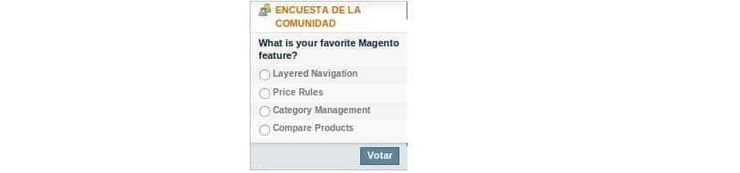 encuestas en tienda online con magento