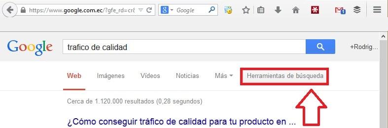 herramientas de busqueda en Google