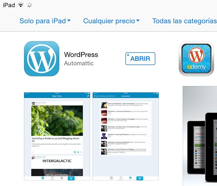 Wordpress en el iPad 01