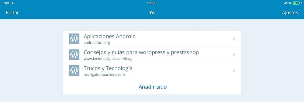 Wordpress en el iPad 16