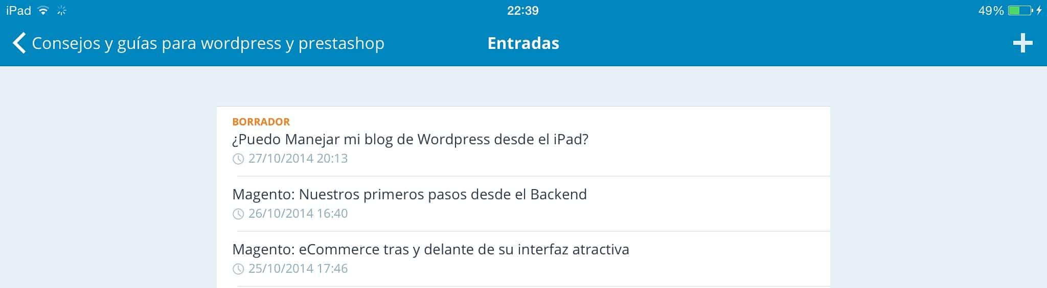 Wordpress en el iPad 18