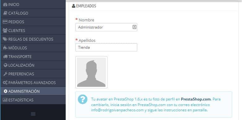 Configurar Tienda Online PrestaShop 04