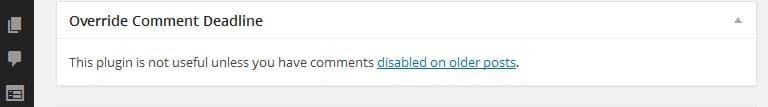 desactivar el bloqueo de comentarios en el blog de WordPress