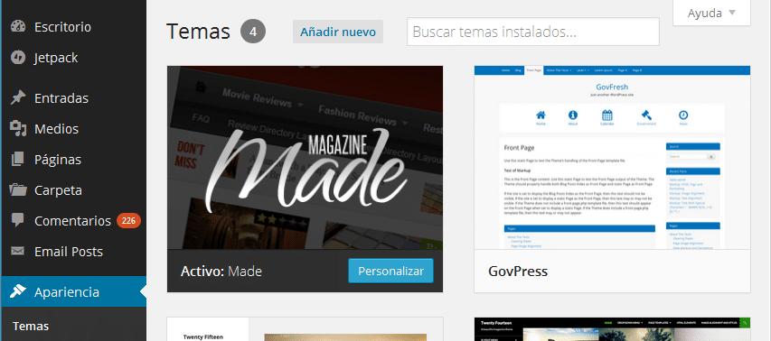 Personalizar el blog de Wordpress sin tener experiencia