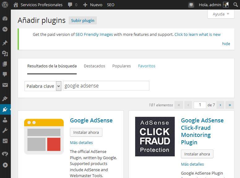 Nuevos Plugins de Adsense para instalar gratis en Wordpress