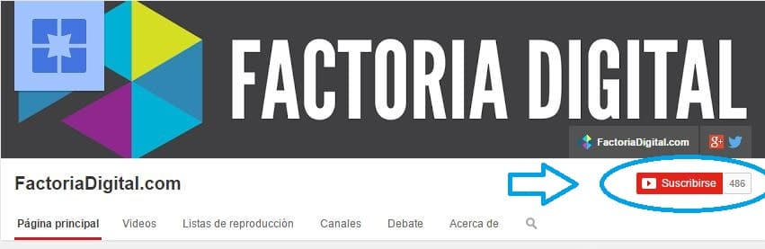 Youtube de Factoria Digital