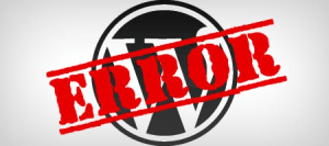 9 Errores comunes en WordPress que si tienen solución