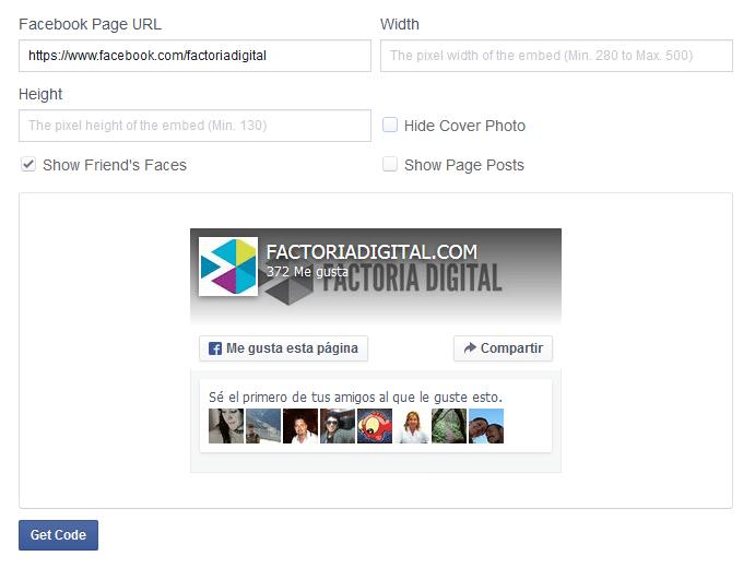 Fans Page de Factoria Digital